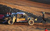 Dec. 10, 2011; Chandler, AZ, USA;  LOORRS pro 2 unlimited driver Rodrigo Ampudia (right) congratulates Greg Adler during round 15 at Firebird International Raceway. Mandatory Credit: Mark J. Rebilas-