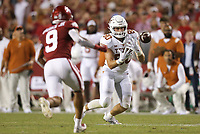 Texas tight end Cade Brewer (80) drops a pass, Saturday, September 11, 2021 during the fourth quarter of a football game at Reynolds Razorback Stadium in Fayetteville. Check out nwaonline.com/210912Daily/ for today's photo gallery. <br /> (NWA Democrat-Gazette/Charlie Kaijo)