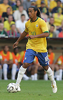 Ronaldinho of Brazil. Brazil defeated Australia, 2-0, in their FIFA World Cup Group F match at the FIFA World Cup Stadium, Munich, Germany, June 18, 2006.