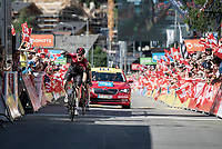 Dylan van Baarle (NED/Ineos) wins the final stage <br /> <br /> Stage 8: Cluses (FRA) to Champéry (SUI)(113km)<br /> 71st Critérium du Dauphiné 2019 (2.UWT)<br /> <br /> ©kramon