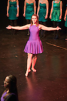 """Choreographer, Hannah Greenslade, dancing.  Special Olympics Surrey put on a show,   """"Beyond the Stars"""", at the Rose Theatre, Kingston upon Thames to raise money for the  SOGB team.  The Special Olympics are for athletes with learning disabilities."""