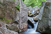 Lost River in Kinsman Notch in North Woodstock, New Hampshire during the summer months.