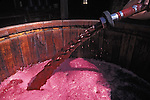 Wine pumped into tank