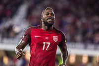 Orlando, FL - Friday Oct. 06, 2017: Jozy Altidore socres during a 2018 FIFA World Cup Qualifier between the men's national teams of the United States (USA) and Panama (PAN) at Orlando City Stadium.