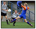 22nd Oct 99                          Copyright Pic : James Stewart .Ref :                           .File Name : stewart05-shire v queens park                        .SHIRE'S STEVEN LAIDLAW SHOOTS AT GOAL AS NEIL MCFARLANE CHALLENGES........Payments to :-.James Stewart Photo Agency, Stewart House, Stewart Road, Falkirk. FK2 7AS      Vat Reg No. 607 6932 25.Office : +44 (0) 1324 630007        Mobile : 07721 416997.Fax     : +44 (0) 1324 630007.E-mail : jim@jspa.co.uk.If you require further information then contact Jim Stewart on any of the numbers above.........