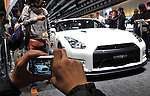 December 4, 2011, Tokyo, Japan - The Nissan GT-R is put on display as more than 110, 000 visitors fill every inch of the Tokyo International Exhibition Center on Sunday, December 4, 2011, the second day of the Tokyo Motor Show. A total of 244,800 visitors in the firt two days turned out to see 398 laetst models from 176 domestic and foreign automakers participating in the weel-long show. (Photo by Natsuki Sakai/AFLO) [3615] -mis-