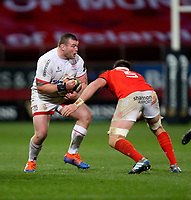 9th November 2019 | Munster vs Ulster<br /> <br /> Jack McGrath is tackled by Billy Holland during the Round 6 PRO14 League clash between Munster Rugby and Ulster Rugby at Thomond Park, Limerick, Ireland. Photo by John Dickson / DICKSONDIGITAL