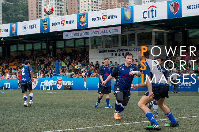 Down syndrome children play a game during the HKFC Citi Soccer Sevens on 21 May 2016 in the Hong Kong Footbal Club, Hong Kong, China. Photo by Li Man Yuen / Power Sport Images