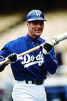 Todd Hundley of the Los Angeles Dodgers during a game at Dodger Stadium circa 1999 in Los Angeles, California. (Larry Goren/Four Seam Images)