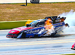 Robert Hight #1, driver for Auto club of South California/Ford's Funny Car makes a qualifying run at the O'Reilly Fall Nationals held at the Texas Motorplex in  Ennis, Texas.