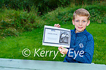 Sean Fleming Kilcummin who won the Comhaltas u12 history project competition for his project on Johnny O'Leary