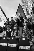 GLC leader Ken Livingstone speaks at a Bobby Sands commemoration march and rally, London.