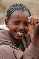 ETHIOPIA Lalibela, laughing girl  AETHIOPIEN Lalibela, lachendes Maedchen
