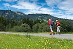 Austria, Vorarlberg, Sibratsgfaell: popular hiking and mountainbike region at Bregenzerwald | Oesterreich, Vorarlberg, Sibratsgfaell: bei Urlaubern beliebtes Ziel fuer Wanderungen und Mountainbike-Touren im Bregenzerwald