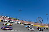 #18: Kyle Busch, Joe Gibbs Racing, Toyota Camry M&M's and #11: Denny Hamlin, Joe Gibbs Racing, Toyota Camry FedEx Ground