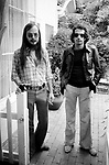 Steely Dan 1977 Walter Becker and Donald Fagen at the Bel Air Hotel<br /> © Chris Walter