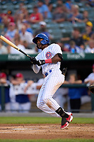 South Bend Cubs Alexander Canario (35) bats during a game against the Quad Cities River Bandits on August 20, 2021 at Four Winds Field in South Bend, Indiana.  (Mike Janes/Four Seam Images)