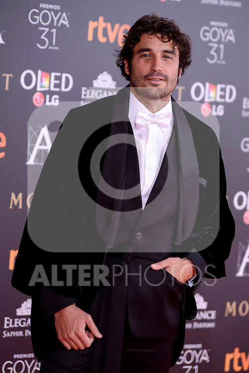 Alex Garcia attends to the Red Carpet of the Goya Awards 2017 at Madrid Marriott Auditorium Hotel in Madrid, Spain. February 04, 2017. (ALTERPHOTOS/BorjaB.Hojas)