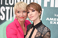 """Emma Thompson and daughter, Gaia<br /> arriving for the London Film Festival 2017 screening of """"The Meyerowitz Stories"""" at the Embankment Gardens Cinema, London<br /> <br /> <br /> ©Ash Knotek  D3319  06/10/2017"""