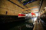 The TS42 Imagine Catamaran Design by Christophe Barreau and built by Marsaudon Composites, Lorient, Morbihan, France.