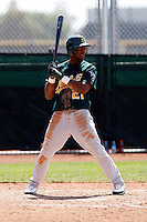 Alex Valdez - Oakland Athletics - 2009 spring training.Photo by:  Bill Mitchell/Four Seam Images