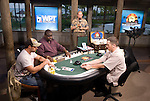 """A view of the tournament set """"heads up."""""""
