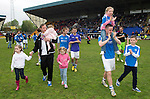 St Johnstone v Motherwell.....19.05.13      SPL.Steven MacLean with his children applauds the fans..Picture by Graeme Hart..Copyright Perthshire Picture Agency.Tel: 01738 623350  Mobile: 07990 594431