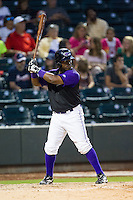C.J. Beatty (11) of the Winston-Salem Dash at bat against the Lynchburg Hillcats at BB&T Ballpark on August 13, 2014 in Winston-Salem, North Carolina.  The Hillcats defeated the Dash 4-3.   (Brian Westerholt/Four Seam Images)