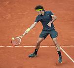 Roger Federer wins  at Roland Garros in Paris, France on June 1, 2012