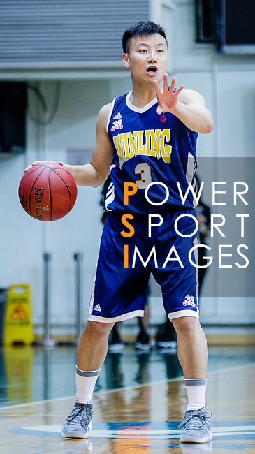 Liang Man Hung #3 of Winling Basketball Club dribbles the ball up court during the Hong Kong Basketball League game between Eagle and Winling at Southorn Stadium on May 4, 2018 in Hong Kong. Photo by Yu Chun Christopher Wong / Power Sport Images