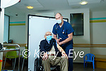 Doctor Ken Keohane giving the Covid-19 vaccine to 107 year old Michael O'Connor, Muckross Killarney at the Deenagh Medical Practice, Killarney on Wednesday.