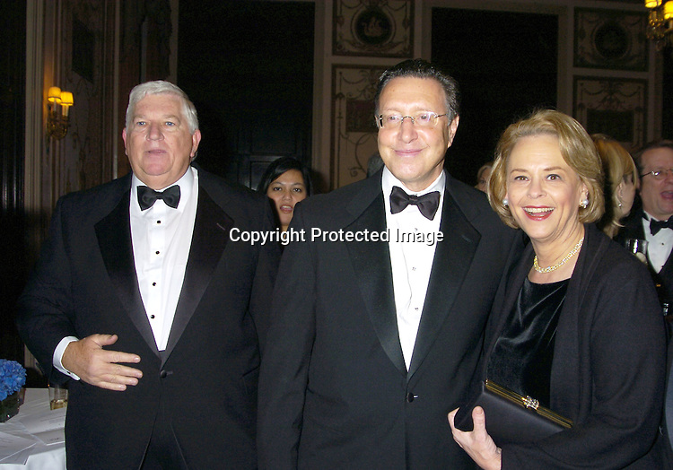 Don Logan, Norman Pearlstine and Ann Moore ..at The Magazine Publishers of America's Henry Johnson Fisher Awards Dinner on January 26, 2005 at The Waldorf..Astoria Hotel. ..Photo by Robin Platzer, Twin Images