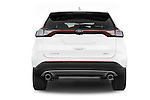 Straight rear view of a 2018 Ford Edge SEL 5 Door Suv Rear View  stock images