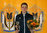 Rotterdam, The Netherlands, 07.03.2014. NOJK ,National Indoor Juniors Championships of 2014, 12and 16 years, Runner up boys 16 years Bart Stevens (NED)<br /> Photo:Tennisimages/Henk Koster