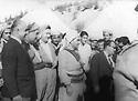 Irak 1964<br /> Taher Yahya, the Prime Minister visiting  Mustafa Barzani for talks, left in front 3rd Mohsen Dizai and 2nd Abdul Wahab Rowanduzi<br /> Irak 1964 Taher Yahya, le premier ministre visitant pour des discussions Mustafa Barzani, 3eme a gaucheau 1er rang, Mohsen Dizai et 2eme, Abdul Wahab Agha Rowanduzi<br /> عیراق 1964 , به بونه ی ده ست پی کردنی وتوویژ,تاهیر یه حیا سه روک وه زیرانی عیراق, هاتووه بو دیتنی مه لا مسته فا سیهه مین که س له لای چه په وه, ریزی یه که م موحسین دزه یی , دووه مین که س عه بدولوه هاب ئاغا روواندوزی