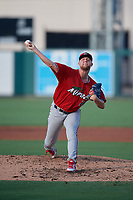 Fort Myers Miracle starting pitcher Blayne Enlow (21) during a Florida State League game against the Lakeland Flying Tigers on August 3, 2019 at Publix Field at Joker Marchant Stadium in Lakeland, Florida.  Lakeland defeated Fort Myers 4-3.  (Mike Janes/Four Seam Images)