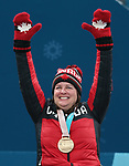 Ina Forrest, PyeongChang 2018 - Wheelchair Curling // Curling en fauteuil roulant.<br /> Ina Forrest receives the bronze medal // Ina Forrest reçoit la médaille de bronze. 17/03/2018.