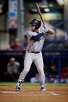 Trenton Thunder Brandon Wagner (10) bats during an Eastern League game against the Reading Fightin Phils on August 16, 2019 at FirstEnergy Stadium in Reading, Pennsylvania.  Trenton defeated Reading 7-5.  (Mike Janes/Four Seam Images)