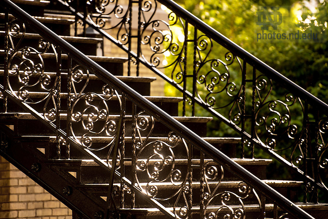 May 18, 2015; Washington Hall Stairs (Photo by Matt Cashore/University of Notre Dame)