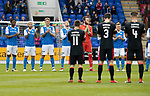 St Johnstone v Partick Thistle…28.04.18…  McDiarmid Park    SPFL<br />A minutes applause in memory of John Lambie<br />Picture by Graeme Hart. <br />Copyright Perthshire Picture Agency<br />Tel: 01738 623350  Mobile: 07990 594431