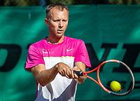 Hilversum, The Netherlands, September 2, 2018,  Tulip Tennis Center, NKS, National Championships Seniors, Men's  40+ final: Dennis Bank (NED)<br /> Photo: Tennisimages/Henk Koster