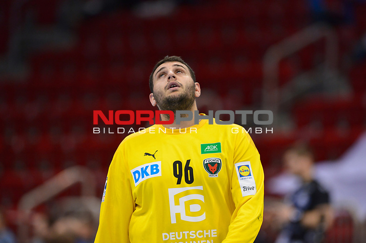 21.11.2020, Duesseldorf, ISS Dome, GER, 1.Liqui Moly HBL,  BHC06 vs. Fuechse Berlin<br /><br />1.Liqui Moly HBL  regulations prohibit any use of photographs as image sequences and/or quasi-video<br />im Bild Dekan Milosavljev ( Füchse Berlin #96 ).<br /><br />Foto © nordphoto / freund *** Local Caption ***