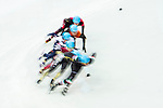 Yuri Confortola of Italy being followed during the Short Track Speed Skating as part of the 2014 Sochi Olympic Winter Games at Iceberg Skating Palace on February 10, 2014 in Sochi, Russia. Photo by Victor Fraile / Power Sport Images