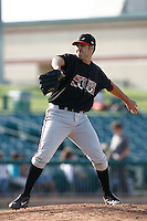 May 19  2007: Brent Carter of the Lake Elsinore Storm pitches against the Lancaster JetHawks at Clear Channel Stadium in Lancaster,CA.  Photo by Larry Goren/Four Seam Images