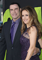 """12 July 2020 - Actress and wife of John Travolta Kelly Preston dead at age 57 from breast cancer.25 June 2012 - Westwood, California - John Travolta, Kelly Preston. """"Savages"""" - World Premiere held at The Mann Village Theatre. Photo Credit: Russ Elliot/AdMedia"""