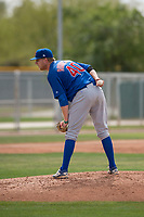 Chicago Cubs starting pitcher Duncan Robinson (40) looks to his catcher for the sign during a Minor League Spring Training game against the Oakland Athletics at Sloan Park on March 13, 2018 in Mesa, Arizona. (Zachary Lucy/Four Seam Images)