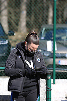 Club YLA's social media officer pictured before a female soccer game between Oud Heverlee Leuven and Club Brugge YLA on the 18 th and last matchday before the play offs of the 2020 - 2021 season of Belgian Womens Super League , saturday 27 th of March 2021  in Heverlee , Belgium . PHOTO SPORTPIX.BE | SPP | SEVIL OKTEM