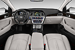 Stock photo of straight dashboard view of 2016 Hyundai Sonata-Plug-in-Hybrid Limited 4 Door Sedan Dashboard