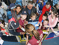 Arsenal vs Leeds United - Womens FA Cup Final at Millwall Football Club - 01/05/06 - Post-match autograph signing with the fans - (Gavin Ellis 2006)