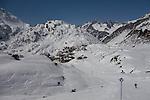 Town of St Christoph seen from ski trail 8, St Anton, Austria,